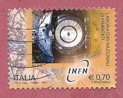 ITALIA REPUBBLICA USATO - 2014 - Laboratori Nazionali Fisica Nucleare  - Frascati Kloe - € 0,70 - S. 3509 - 6. 1946-.. Repubblica