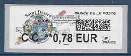 Lisa 2 Saint Désiré Ecopli CC 0.78 - Musée De La Poste (2018) Neuf** - 2010-... Vignettes Illustrées