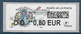 Lisa 2 Saint Désiré Lettre Verte DD 0.80 - Musée De La Poste (2018) Neuf** - 2010-... Vignettes Illustrées