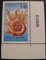 Lot 1903 - 1992 - CONGRES INTERNATIONAL DES CEREALES ET DU PAIN - N°2757 NEUF** COIN DE FEUILLE - France
