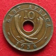 Africa East 10 Cents 1936 Afrika Afrique - Münzen