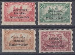 Marienwerder Minr.26-29 Postfrisch - Deutschland