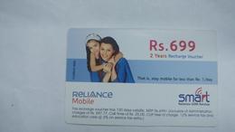 India-smart Card-(42c)-(rs.699)-(siliguri)-(31.12.2007)-(look Out Side)-used Card+1 Card Prepiad Free - India
