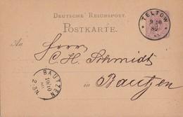 DR Ganzsache K1 Teltow 9.10.80 Gel. Nach K1 Bautzen 10.10.80 - Deutschland