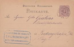 DR Ganzsache K1 Weissenburg I. Els. 23.2.77 - Deutschland