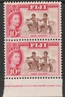 """Fiji  1962  """"10d  QE2 - Part Imprint"""" X 2  MNH   (**) - Fiji (...-1970)"""