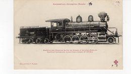 LES LOCOMOTIVES (Russie) Machine Des Chemins De Fer De Moscou à Windau-Risbusk - Eisenbahnen