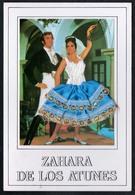 B5000 - Folklore Trachten Materialkarte Stoff - Zahara De Los Atunes - Klappkarte - Ansichtskarten