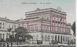 AK 0109  Rio De Janeiro - Prefeiotura Municipal / Glitzerkarte Um 1910 - Rio De Janeiro