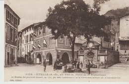 C. P. A. -  UTELLE - PLACE DE LA RÉPUBLIQUE - 3279 - GILLETTA - OU MASSENA FUT PROCLAME GÉNÉRAL PAR 2 COMMISSIONNAIRES - Otros Municipios