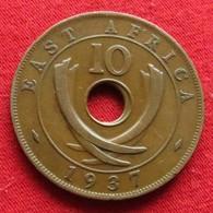 Africa East 10 Cents 1937 H Afrika Afrique - Coins