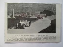 (1933)  Victoire Coupe Des Alpes - Les  Automobiles   HOTCHKISS   - Coupure De Presse Originale (Encart Photo) - Documenti Storici