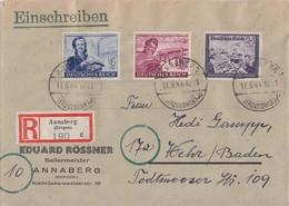 DR R-Brief Mif Minr.888,890,893 Annaberg 11.5.44 - Deutschland