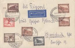DR Brief Luftpost Mif Minr.613,634,635,3x 638,640 SR Rauschen 30.6.37 - Germany