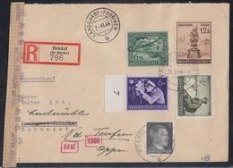 DR R-Brief Mif Minr.781,866,876 SR,885,886 Brakel 24.5.44 Gel. In Schweiz Zensur - Briefe U. Dokumente