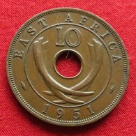 Africa East 10 Cents 1951 Afrika Afrique - Münzen
