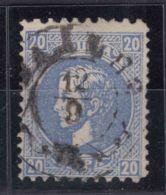 Serbia Principality 1872/73 Mi#14 II C - Second Printing, Perforation 9,5/12, Used - Serbia
