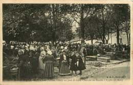 221218 - 41 SAINT AIGNAN SUR CHER Place Valmy Jour De Foire Marché Au Beurre - Scène Paysanne Types Du Berry Folklore - Saint Aignan