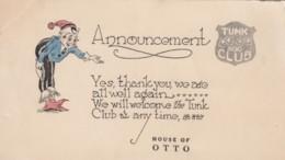 Portland Oregon, House Of Otto Tunk Club Announcement, Playing Cards Theme, C1920s Vintage Postcard - Portland