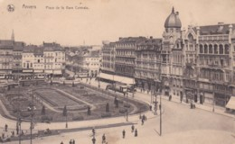 ANVERS - PLACE  DE LA  GARE CENTRALE. SLOGAN - Antwerpen