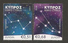 "CHIPRE / CYPRUS / ZYPERN - EUROPA 2009 - TEMA ""ASTRONOMIA"" - SERIE De 2 V. . DENTADA  (PERFORATED) - Europa-CEPT"