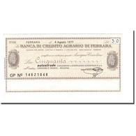 Billet, Italie, 50 Lire, 1977, 1977-08-04, SPL - [10] Chèques