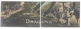 MILITAIRE - DRAGONS - Lot De 10 Cartes Postales PUZZLE Complet - Personnages