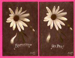 2 Cp - Marguerites - Marguerite - Fleur - Un Peu - Beaucoup - MESANGE - Blumen