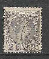 MONACO N° 2 OBL / Petit Aminci - Monaco
