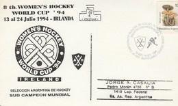 HOCKEY Sur Glace Championat Mondial Feminine  Cachet Special ARGENTINA - Hockey (Ijs)
