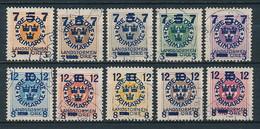 Schweden Nr. 115-124 (Michel 22,00 €) - Schweden