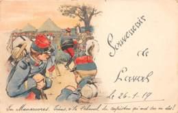 53 - Mayenne / 10003 - Laval - Belle Carte Souvenir - Illustration Militaire - Autres Communes