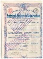 Ancienne Action - Aciéries & Ateliers De Construction De Taretzkoie à Droujkoeka (Donetz) Titre De 1906 - Russie
