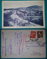 Cartolina Fabriano - Panorama E Viale Stazione. Viaggiata 1948 - Ancona