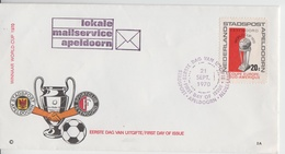 NETHERLANDS 1970 FOOTBALL CLUB FEYENOORD STADSPOST APELDOORN WORLD CUP FDC - Equipos Famosos