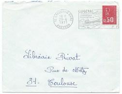 ENVELOPPE MARIANNE DE BEQUET / 1971 CAPDENAC GARE AVEYRON - 1961-....