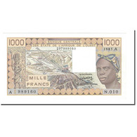 Billet, West African States, 1000 Francs, 1981-1990, 1985, KM:107Af, NEUF - États D'Afrique De L'Ouest