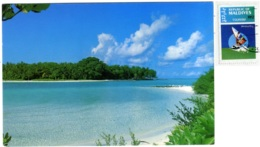 MALDIVES  Maldive Islands  Atoll    Nice Stamp Windsurfing Theme - Maldives
