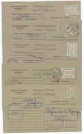 LOT DE 5 CARTES DE RAVITAILLEMENT / AVEYRON AUBIN / CAPDENAC / RODEZ / NAUSSAC / MORLHON - Storia Postale