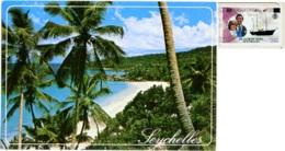 SEYCHELLES  LA DIGUE  Petit Anse Nice Stamp Royal Wedding 1981 - Seychelles