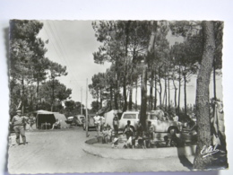 CPSM (44) Loire Atlantique - Eden Camping - De Pont-Mahe Par Asserac - Rond De Sable Pour Enfants - Peugeot 403, Citroen - Altri Comuni