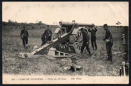C0932 - Camp De Sissonne Haubitze Kanone Geschütz Feuerstellung - 1. WK WW - Ausrüstung