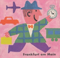 Vouwfoldertje - Frankfurt Am Main - Miniformaat (8x8cm) - 1958 - Dépliants Touristiques