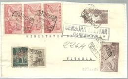 CARTA 1939 CERTIFICADA  CENSURA  BONITO FRANQUEO    SOLO FRONTAL - Marcas De Censura Nacional
