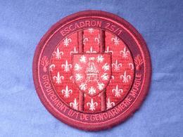 Écusson Gendarmerie Mobile Escadron 25/1 Version Rouge N°11 - Ecussons Tissu