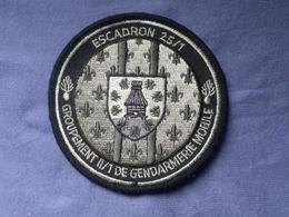Écusson Gendarmerie Mobile Escadron 25/1 Version Grise N°12 - Ecussons Tissu