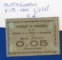 Mostaganem  0.05  Cts   Dans  L'etat  1914 /18 - Algérie