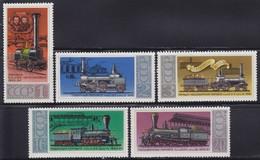 Russia USSR 1978 Trains - Locomotives, MH (*) Michel 4715-4719 - 1923-1991 USSR