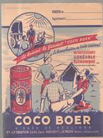 Scoutisme Protège Cahier  COCO BOER Ils Boivent Le Fameux COCO BOER ETS J.P. Courtier à LE POUZIN Ardèche - Book Covers