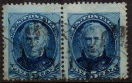 USA - 5 C. Taylor En Paire Oblitérée - Used Stamps